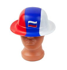 Фан-шапка пластиковая триколор, фото 1
