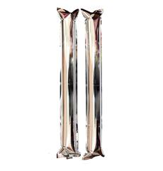 Палки-стучалки метализированные серебряные, фото 1