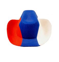 "Фан-шапка ""Ковбой"" триколор, фото 1"