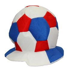 """Фан-шапка """"Футбольный мяч"""" триколор, фото 1"""