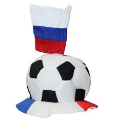 """Фан-шапка """"Футбольный мяч с флагом"""", фото 1"""