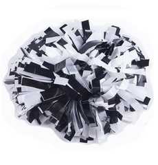 Помпон виниловый черный с белым, фото 1