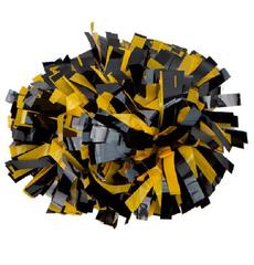 Помпон виниловый черный с желтым, фото 1