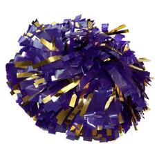 Помпон виниловый фиолетовый с золотом, фото 1