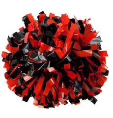Помпон виниловый красный с черным, фото 1