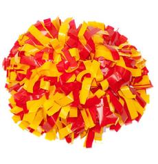 Помпон виниловый желтый с красным, фото 1