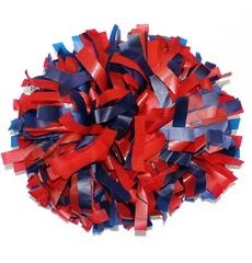 Помпон пластиковый красный с синим, фото 1