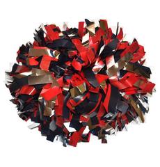 Помпон пластиковый синий-красный-серебро, фото 1