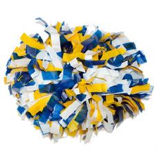 Помпон пластиковый синий-белый-желтый, фото 1