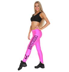 """Лосины """"Cheerleader"""" (розовые, черный принт), фото 2"""
