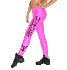 """Лосины """"Cheerleader"""" (розовые, черный принт), фото 1"""
