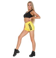 """Шорты для танцев на широкой резинке """"Cheer"""" (желтые, черный принт), фото 2"""