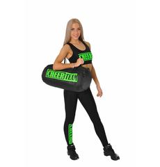 """Топ борцовка """"Cheer team"""" (черный, зеленый принт), фото 6"""
