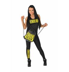 "Майка борцовка ""Cheer team"" (черная, желтый принт), фото 4"