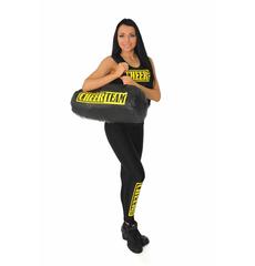 "Майка борцовка ""Cheer team"" (черная, желтый принт), фото 5"