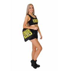Рюкзак ''Cheer team'' (черный, желтый принт), фото 2