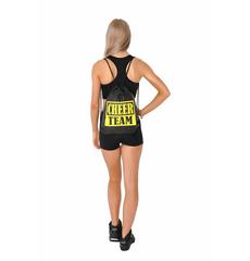 Рюкзак ''Cheer team'' (черный, желтый принт), фото 3