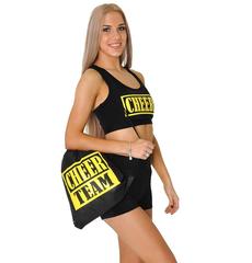 Рюкзак ''Cheer team'' (черный, желтый принт), фото 1