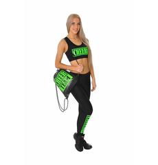 """Топ борцовка """"Cheer team"""" (черный, зеленый принт), фото 5"""