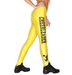 """Лосины """"Cheerleader"""" (желтые, черный принт), фото 1"""