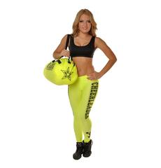 """Сумка """"Cheerleader"""" (лимонная, черный принт), фото 4"""