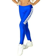 """Лосины """"Cheerleading"""" (синие, белый принт), фото 1"""