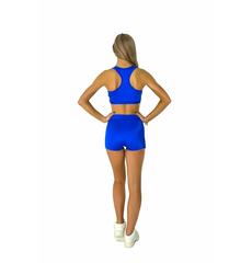 """Шорты для танцев на широкой резинке """"Cheer"""" (синие, белый принт), фото 3"""