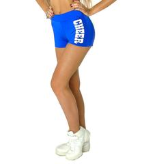 """Шорты для танцев на широкой резинке """"Cheer"""" (синие, белый принт), фото 1"""