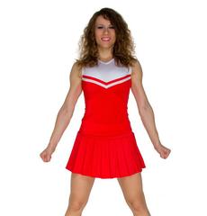 Топ черлидера, модель №1 (красно-белый), фото 1