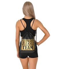 Рюкзак ''Cheer team'' (черный, золотой принт), фото 1
