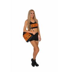 Рюкзак ''Cheer team'' (черный, оранжевый принт), фото 2