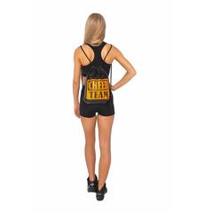 Рюкзак ''Cheer team'' (черный, оранжевый принт), фото 3