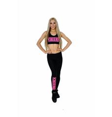 """Топ борцовка """"Cheer team"""" (черный, розовый принт), фото 4"""