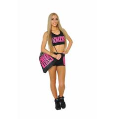 """Топ борцовка """"Cheer team"""" (черный, розовый принт), фото 5"""