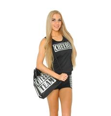 Рюкзак ''Cheer team'' (черный, серебренный принт), фото 1