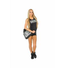 """Шорты для танцев на широкой резинке """"Cheer team"""" (черные, серебренный принт), фото 5"""