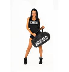 """Шорты для танцев на широкой резинке """"Cheer team"""" (черные, серебренный принт), фото 6"""