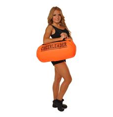 """Сумка """"Cheerleader"""" (оранжевая, черный принт), фото 2"""