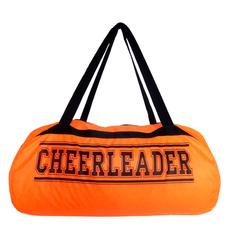 """Сумка """"Cheerleader"""" (оранжевая, черный принт), фото 1"""