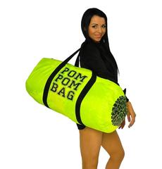 """Сумка """"Pom pom bag"""" (лимонная, черный принт), фото 1"""