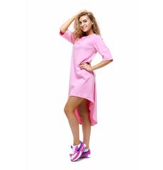 Платье розовое pl.010