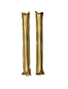 Палки-стучалки метализированные золотые, фото 1