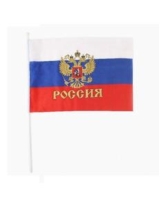 Флаг триколор с гербом 60х90см, фото 1