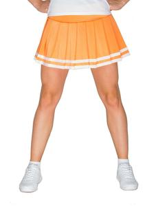 Юбка в складку с отделкой (оранжевая), фото 1