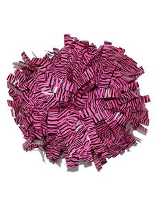 """Помпон премиум класса """"Зебра"""" черный с розовым, фото 1"""