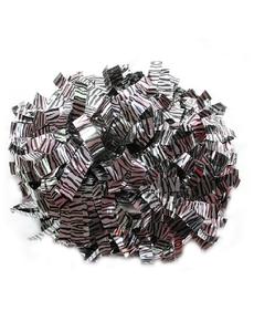 """Помпон премиум класса """"Зебра"""" черный с серебром, фото 1"""