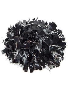 Помпон виниловый черный с серебряными вставками, фото 1