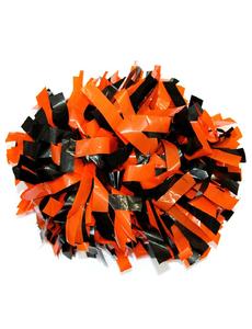Помпон виниловый оранжевый с черным, фото 1