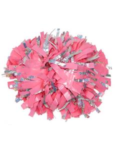 Помпон виниловый розовый с тонкой серебряной голографией, фото 1
