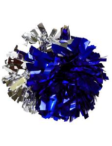Помпон металлизированный синий с серебром, фото 1